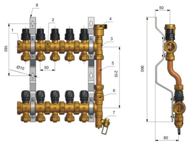 分水器构造图